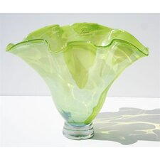 Hand Blown Glass Vase in Lime Green