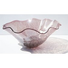 Hand Blown Decorative Bowl in Grey