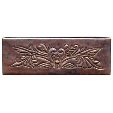 "Bouquet 6"" x 2"" Copper Border Tile in Dark Copper"