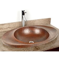 "Copper Bathroom Sinks 25"" x 16"" Martinique Drop-In Kitchen Sink"
