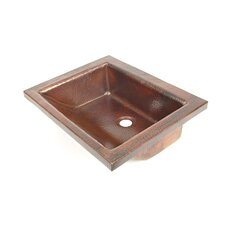 "Copper Bathroom Sinks 16"" x 15.5"" Nassau Drop-In Kitchen Sink"
