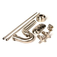 Brass Plumbing Traditional Decorative P-Trap Kit