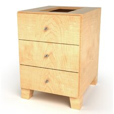 Faux Drawer Footed Cabinet