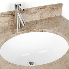 <strong>D'Vontz</strong> Large Oval China Bathroom Sink