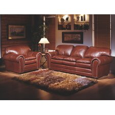 <strong>Omnia Furniture</strong> Torre 3 Seat Leather Living Room Set