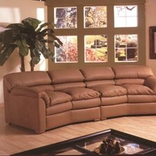 Canyon Conversation Leather Sofa