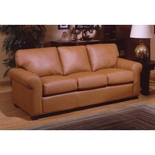 <strong>Omnia Furniture</strong> West Point Leather Queen Sleeper Sofa