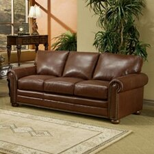 Savannah Full Leather Sleeper Sofa