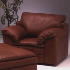 <strong>Omnia Furniture</strong> Encino Leather Chair and Ottoman