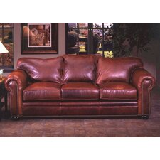 <strong>Omnia Furniture</strong> Monte Carlo Leather 3 Seat Sofa Living Room Set