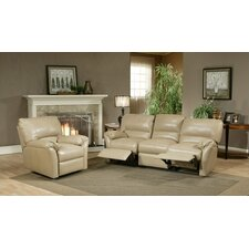 <strong>Omnia Furniture</strong> Mandalay Leather Reclining Sofa
