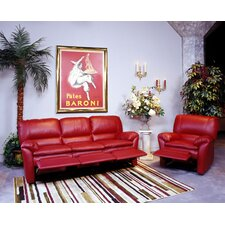 <strong>Omnia Furniture</strong> Luxor Leather Living Room Set