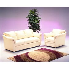 <strong>Omnia Furniture</strong> Salerno 4 Seat Leather Living Room Set