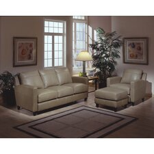 Skyline 3 Seat Leather Sofa Set