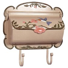 Hand Painted Hummingbird Horizontal Wall Mounted Mailbox