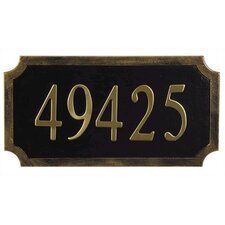 Traditional Address Plaque