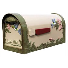 Humingbird Curbside Post Mounted Mailbox in Natural