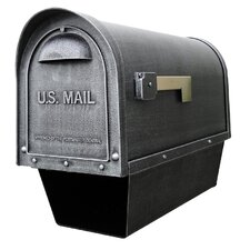 <strong>Special Lite Products</strong> Classic Curbside Post Mounted Mailbox with Newspaper Tube