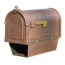Berkshire Curbside Post Mounted Mailbox with Paper Tube