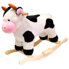 <strong>Happy Trails</strong> Cow Plush Rocking Animal