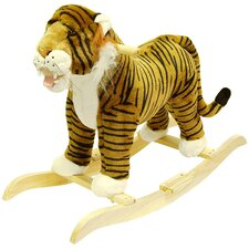 <strong>Happy Trails</strong> Tiger Plush Rocking Animal