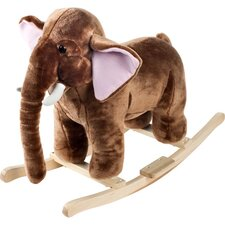 <strong>Happy Trails</strong> Plush Rocking Mo Mammoth with Sound