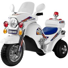 Police Cruiser Battery Operated Bike in White
