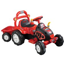 <strong>Lil' Rider</strong> Farm 'N Fun 6V Battery Powered Tractor and Trailer