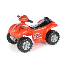 Battery Powered Red Raptor 4 Wheeler Car