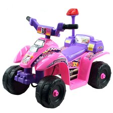 Four Wheel Battery Operated Mini ATV in Pink and Purple