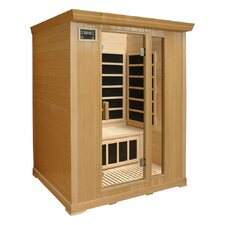 3-Person Infrared Sauna with Eight Carbon Heaters and Color Therapy Lights