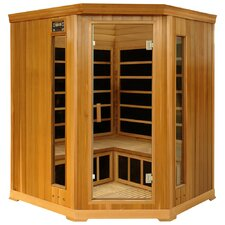 3-4 Person Corner Luxury Cedar Infrared Sauna
