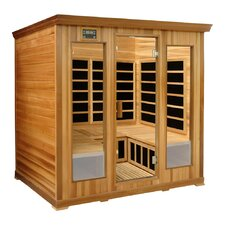 4-Person Luxury Cedar Infrared Sauna