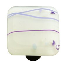 Mardi Gras Cabinet Knob in Purple / White