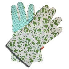 Ladies Floral Regular Dot Gloves