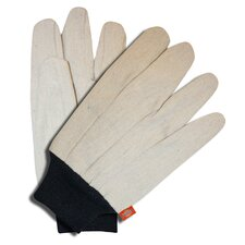 Cotton Canvas Knit Wrist Gloves