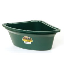 Corner Horse Feeder in Green - 26 Quart