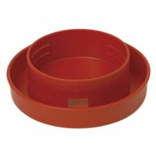 Quail Base Poultry Feeder in Red - 1 Quart