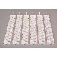 Small Egg Rails in White - 6 Count