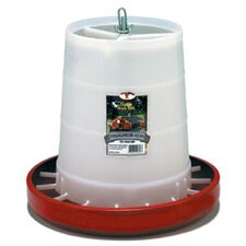 Plastic Hanging Poultry Feeder in Red
