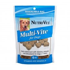 Natural Smoke Flavored Multi Vite Soft Chews for Dogs