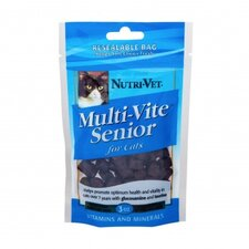 Chicken and Tuna Flavored Multi Vite Senior Soft Chews for Cats