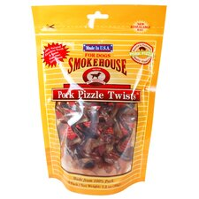 "9.25"" Pork Pizzle Twists Dog Treats"