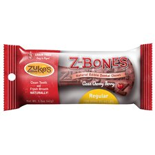 1.5 oz. Cherry Berry Z-Bones Dental Chew Bone Dog Treat