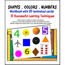 Shapes, Colors and Numbers Workbook with Cards