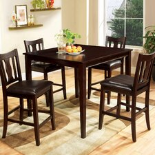 <strong>Hokku Designs</strong> Petite 5 Piece Counter Height Dining Set
