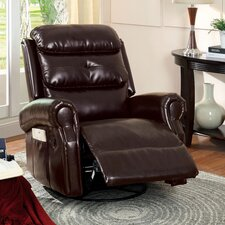 Portiere Bonded Leather Swivel Recliner