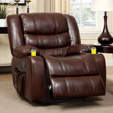 Martinone Bonded Leather Swivel Recliner