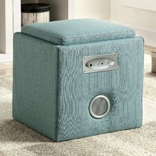 Reverb Cube Ottoman with Bluetooth Speakers