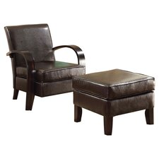 Bowed Chair and Ottoman